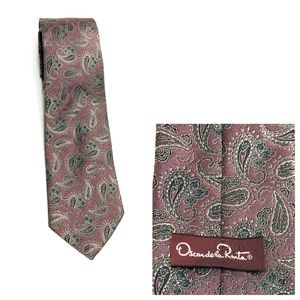 VINTAGE AUTHENTIC OSCAR DE LA RENTA SILK TIE